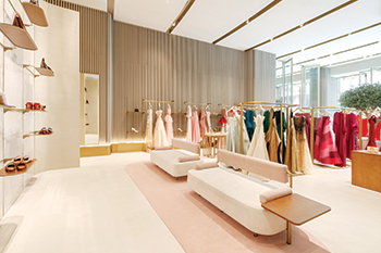 Symphony luxury fashion store ... airy, light, and inviting.