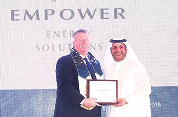 Bin Shafar takes home the 2018 Idea Global leader award.