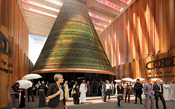 An artist's impression of the Netherlands Expo 2020 pavilion.