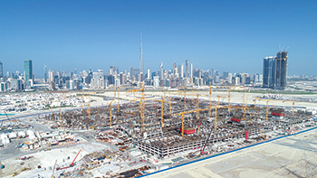 Meydan One ... 60 per cent of work complete.