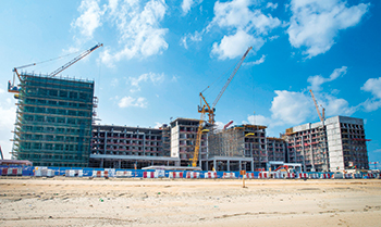 RIU resort under construction.