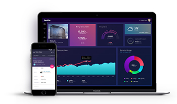 Facilio's energy dashboard.