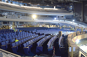 The main convention hall of the convention centre will have 3,200 seats.