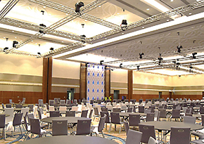 The 1,350-seat-capacity main ballroom.