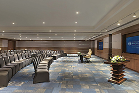 There will be 28 meeting rooms and administration offices at the convention centre.