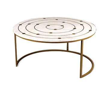 Marble-top round coffee table ... from 2XL.