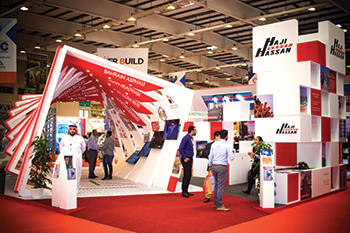 Haji Hassan's stand at Gulf Construction Expo 2018 ... award winner.