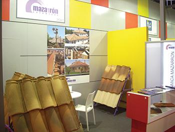 Ceramicas Mazarron's stand at a previous The Big 5 Saudi expo.
