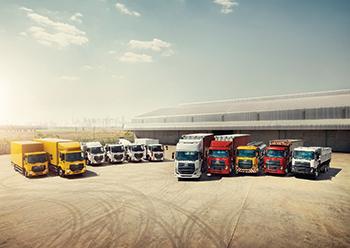 UD Trucks line-up.