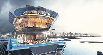 The infinity pool at Palm Tower will be one of the highest in the world.