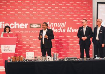 Fischer officials at the media event.