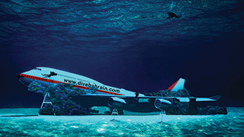 The world's largest underwater theme park will have a submerged Boeing 747.