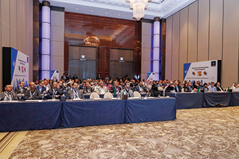 The audience at the 'World of Technal' conference in Bahrain.