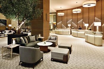 The lobby at Address Dubai Mall... revamped.