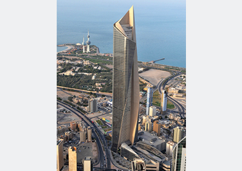 Al Hamra Tower at 412 m in Kuwait ... innovative use of self-compacting concrete.
