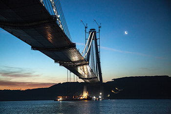 The Third Bosphorus Bridge in Turkey ... 104,000 cu m of C50/60 concrete was used to construct the four pylons.