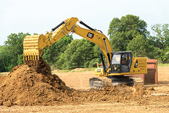 Cat's next-gen 330 ... high operating efficiency and lower costs.