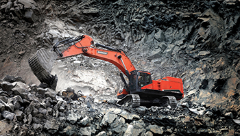 The new DX300LC-7 offers enhanced operator comfort and controllability.