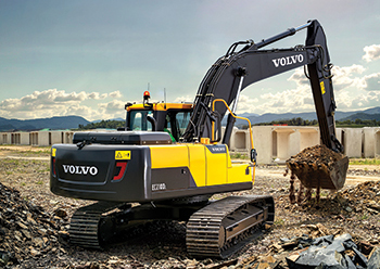 The new EC210D ... robust frame combined with optimal engine power and hydraulic pressure.