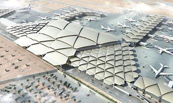 King Khalid International Airport in Riyadh ... expansion under way.