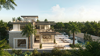 An artist's impression of a villa at AlJurf Gardens.