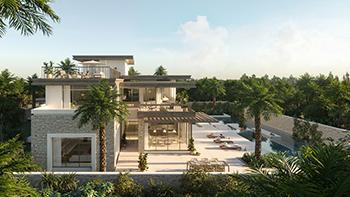 An artist's impression of a villa at AlJurf Gardens.
