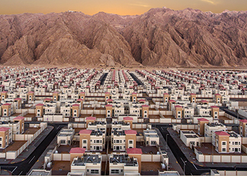 Ain Al Fayda development ... featuring 56,000 indoor and  5,000 outdoor units.