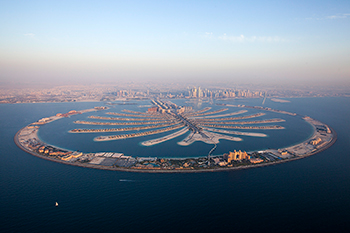 The Palm Jumeirah ... showcased at Nakheel's stand at Mipim.