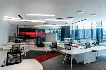 Evoteq offices ... a flexible activity-based workspace.