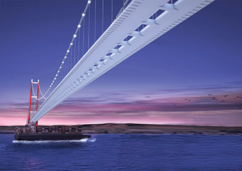 Berdan Civata is supplying steel anchor bolts and fastening products to the Canakkale 1915 bridge in Turkey.