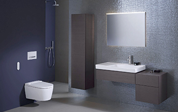The AquaClean Sela WC ... fits into any bathroom.