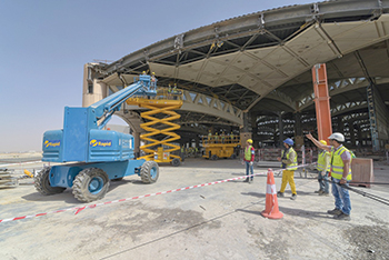 King Khaled International Airport ... under expansion.