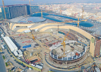 Sheikh Jaber Al Abdullah Al Jaber Al Sabah International Tennis Complex ... set to open later this year.