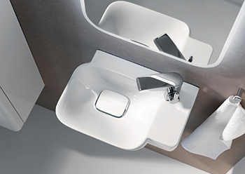 Washbasin from Geberit's myDay collection ... offering a high degree of flexibility.