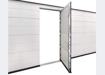 Hormann's wicket door ... with trip-free threshold.