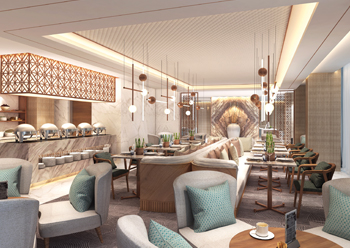 The Club Lounge at the Westin Al Akaria hotel development.