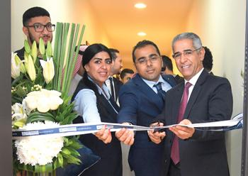 Salman (right) inaugurates the new Tylos Aluminium showroom.