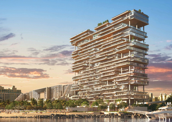 One Palm at Palm Jumeirah .... the building's architecture, includes double- and triple-height spaces.