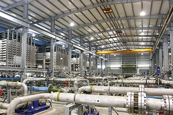 A desalination plant ... the world's largest RO plant will be built at Taweelah, UAE.