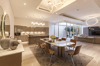 The Majid Al Futtaim Experience Centre ... lighting scheme in harmony with contemporary interior design.