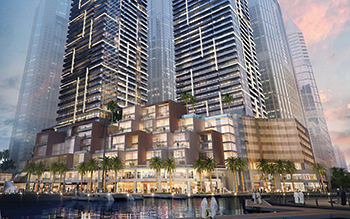 Sparkle Towers ... a twin-tower development consisting of 29 and 14 storeys respectively.