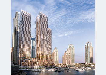 Jumeirah Living Marina Gate ... final tower topped out.