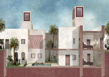 A 3D visualisation of the concept, created in collaboration with Lina Almansour.