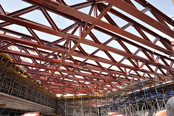 Mega beams and trusses were fabricated by ASF for the Qasr Al Hokm station.