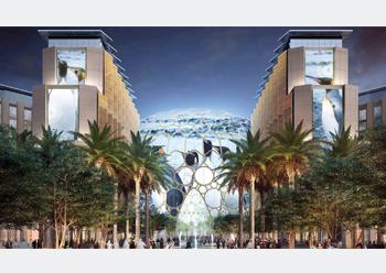 Al Wasl Plaza ... centrepiece of the Expo 2020 Dubai site.