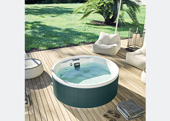 Mawi spa pool ... clad in innovative fabrics in contemporary colours.