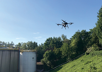 Strombee scanned the 8-hectare storage tank farm in Belgium in 10 hours over four flights.