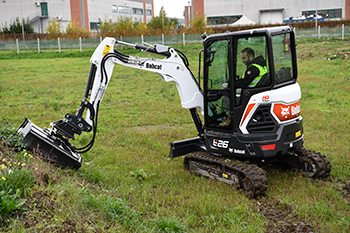 Bobcat's new flail mower attachments offer long reach and manoeuvrability.