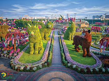 Dubai Miracle Garden ... showcasing familiar objects and animals.
