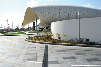 Etihad Museum ... featuring ACO's Multiline channels with cast iron gratings.